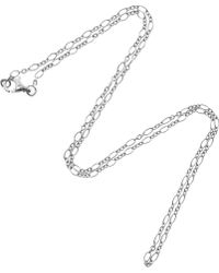 Stone - White Gold Chain Necklace - Lyst