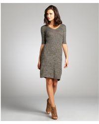 BCBGMAXAZRIA Pine Stretch Wool Blend 'Shay' Long Sleeve Sweater Dress - Lyst
