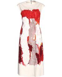 Bottega Veneta Wool Dress - Lyst