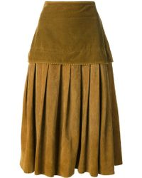 Versace Pleated Skirt - Lyst