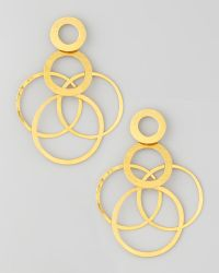 Herve Van Der Straeten Interlockedhoops Drop Earrings - Lyst