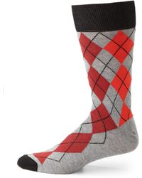 Hook + Albert - Argyle Dress Socks - Lyst