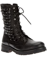 HTC Hollywood Trading Company - Studded Biker Boot - Lyst