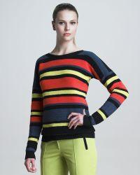 Jason Wu Crochetstriped Pullover - Lyst