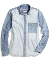 Madewell Two-Tone Chambray Shirt - Lyst