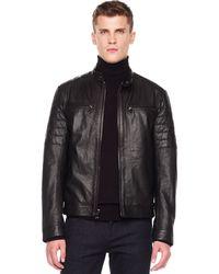 Michael Kors Leather Racer Jacket - Lyst