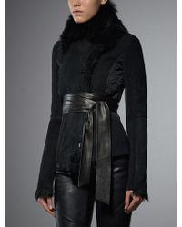 Patrizia Pepe Lamb Short Fur Coat - Lyst