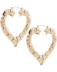 ASOS - Asos Creole Heart Hoop Earrings - Lyst
