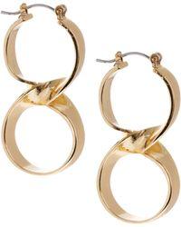 ASOS - Asos Twisted Double Hoop Earrings - Lyst