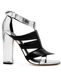 Camilla Skovgaard Tri Beam Metallic Sandals - Lyst