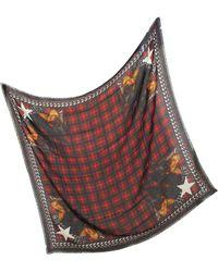 Givenchy   Doberman Tartan Wool Print Wrap   Lyst