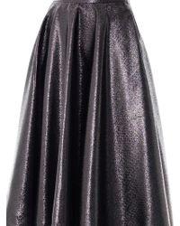 Lulu & Co | Metallic Full Pleated Skirt | Lyst