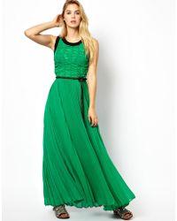 Manoush Stretch Pleated Maxi Dress - Lyst