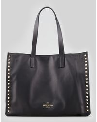 Valentino Rockstud Shopping Tote Bag - Lyst