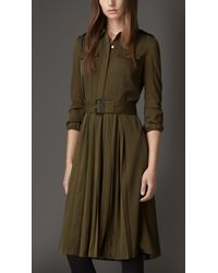 Burberry Silk Shirt Dress - Lyst