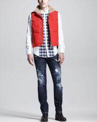 DSquared² Distressedmended Slim Jeans Indigo - Lyst