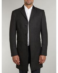 Farrell | Single Breasted Chesterfield Herringbone Coat | Lyst