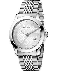 Gucci Gtimeless Collection Stainless Steel Watch Silver - Lyst