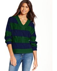 Keds - Long Sleeve Striped Cableknit - Lyst