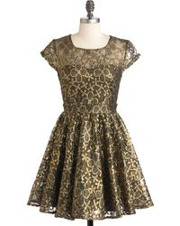 ModCloth Golden Garden Dress - Lyst