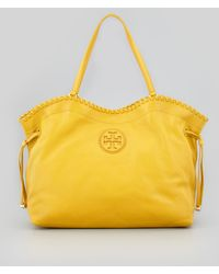 Tory Burch Marion Eastwest Slouchy Tote Bag Yellow - Lyst