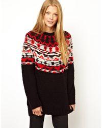 Denham - Chunky Mixed Yarn Sweater - Lyst