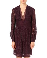 Diane von Furstenberg  V neck Dress - Lyst