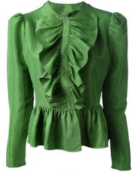 Labour Of Love Labour Of Love Frill Front Shirt - Lyst