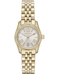 Michael Kors Lexington Goldplated Watch White - Lyst