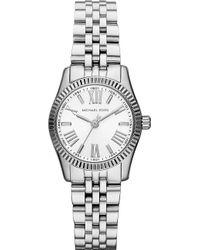 Michael Kors Lexington Stainless Steel Watch White - Lyst