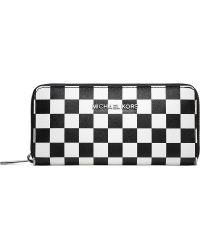 Michael Kors - Michael Kors Saffiano Check Wallet - Lyst