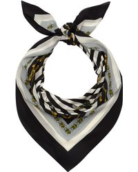 Mother Of Pearl - Black and White Eleanor Silk Scarf - Lyst