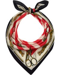 Mother Of Pearl - Red Sofia Silk Scarf - Lyst