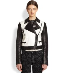 Proenza Schouler Waxy Leather Motorcycle Jacket - Lyst
