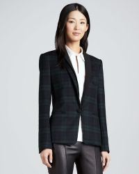 Theory Donelly Plaid Felt Blazer - Lyst
