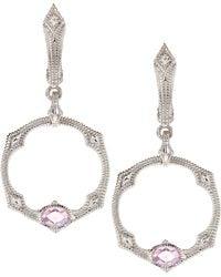 Judith Ripka - Moderna Faceted Hoop Earrings - Lyst