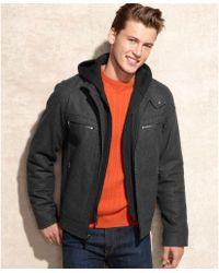 Calvin Klein Knit Hood Wool-Blend Bomber - Lyst