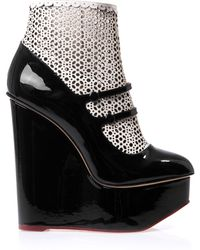 Charlotte Olympia Gretel Wedge Ankle Boots - Lyst