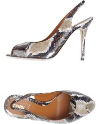 Fendi High-Heeled Sandals - Lyst