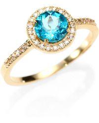 KALAN by Suzanne Kalan - Apatite, White Sapphire & 14k Yellow Gold Ring - Lyst