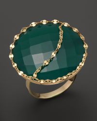 Lana Jewelry 14K Gold And Green Onyx Glow Ring - Lyst