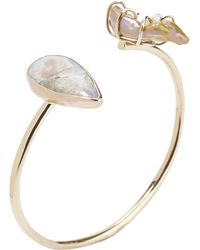 Melissa Joy Manning Gold, Pearl And Opal Cuff Gold, Pearl And Opal Cuff - Lyst