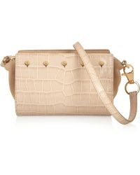 Alexander Wang Croceffect Leather and Suede Clutch - Lyst