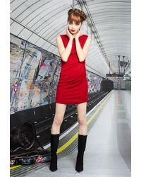 Alice + Olivia Raven Ruched Shoulder Dress - Lyst