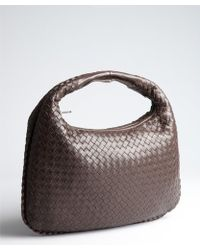 Bottega Veneta Ebony Intrecciato Leather 'Veneta Effiloche' Hobo - Lyst