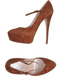 Casadei Closedtoe Slipons - Lyst