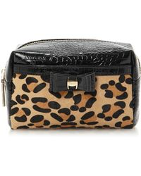 Dune - Sleopbag Leopard Pony Make Up Bag - Lyst