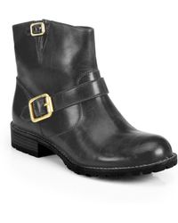 Marc By Marc Jacobs Boy Meets Girl Leather Motorcycle Ankle Boots - Lyst