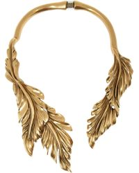 Oscar de la Renta Goldplated Leaf Necklace - Lyst