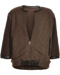 Pyrus - Dotty Wool Knit Reversible Bomber Jacket By - Lyst